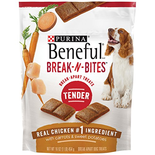 Purina Beneful Break-N-Bites Tender Real Chicken With Carrots & Sweet Potatoes Dog Treats - 16 Oz. Pouch