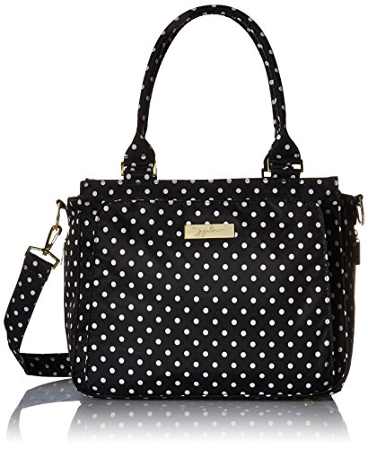 (JuJuBe Be Classy Structured Multi-Functional Multi-Functional Diaper Bag/Purse, Legacy Collection - The Duchess - Black with White Polka Dots)