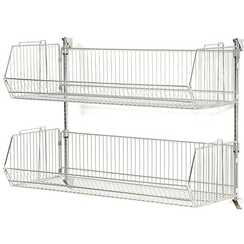 Nexel Wall Mount Basket Shelving Unit, 48