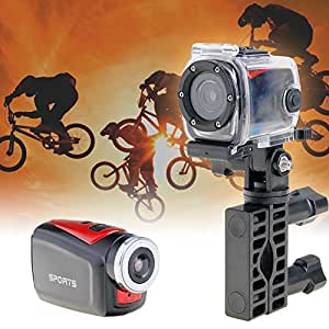 Annong Waterproof Super Mini 720p Sports Camera Professiona Video Camera Bike Helmet Camcorder Waterproof Dv Available for Bicycles, Motorcycles, Cars, Helmets (Black&Red)