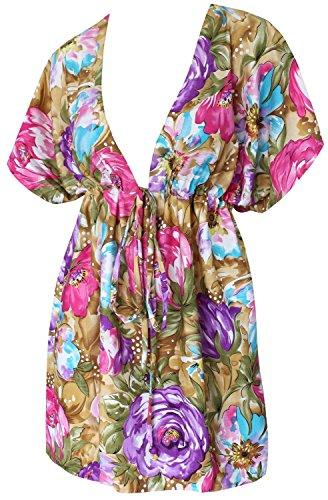 túnica retro superior a encubrir con playas traje baño los mejores mangas casquillo caftán túnica trajes baño señoras Camisa vacaciones verano los sundress hawaiano Casualwear traje baño