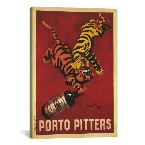Cappiello Canvas Print - iCanvasART Porto Pitters Vintage by Leonetto Cappiello Canvas Art Print, 26 by 18-Inch