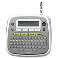 Brother Desktop Label Maker, Manual Cutter, 6-1/2x6x2, Gray (PT-D200)
