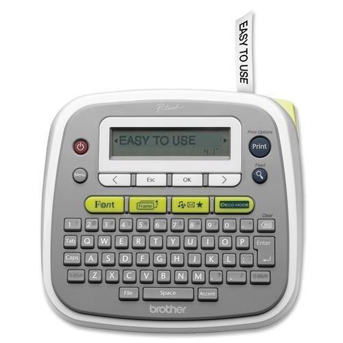 Brother Desktop Label Maker, Manual Cutter, 6-1/2″x6″x2″, Gray (PT-D200)