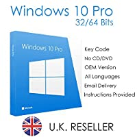 Windows 10 Pro Key 32/64 Bits for UK - Email delivery - 60-Day Money-back Guarantee