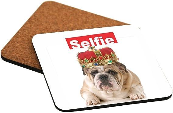 Rikki Knight Selfie Boxer Dog Design Square Fridge Magnet