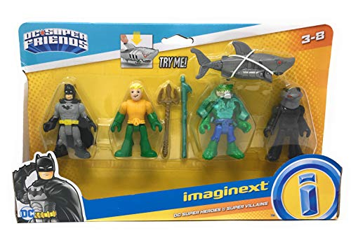 Imaginext DC Super Heroes & Super Villains: Batman, Black Manta, Killer Croc & Aquaman -