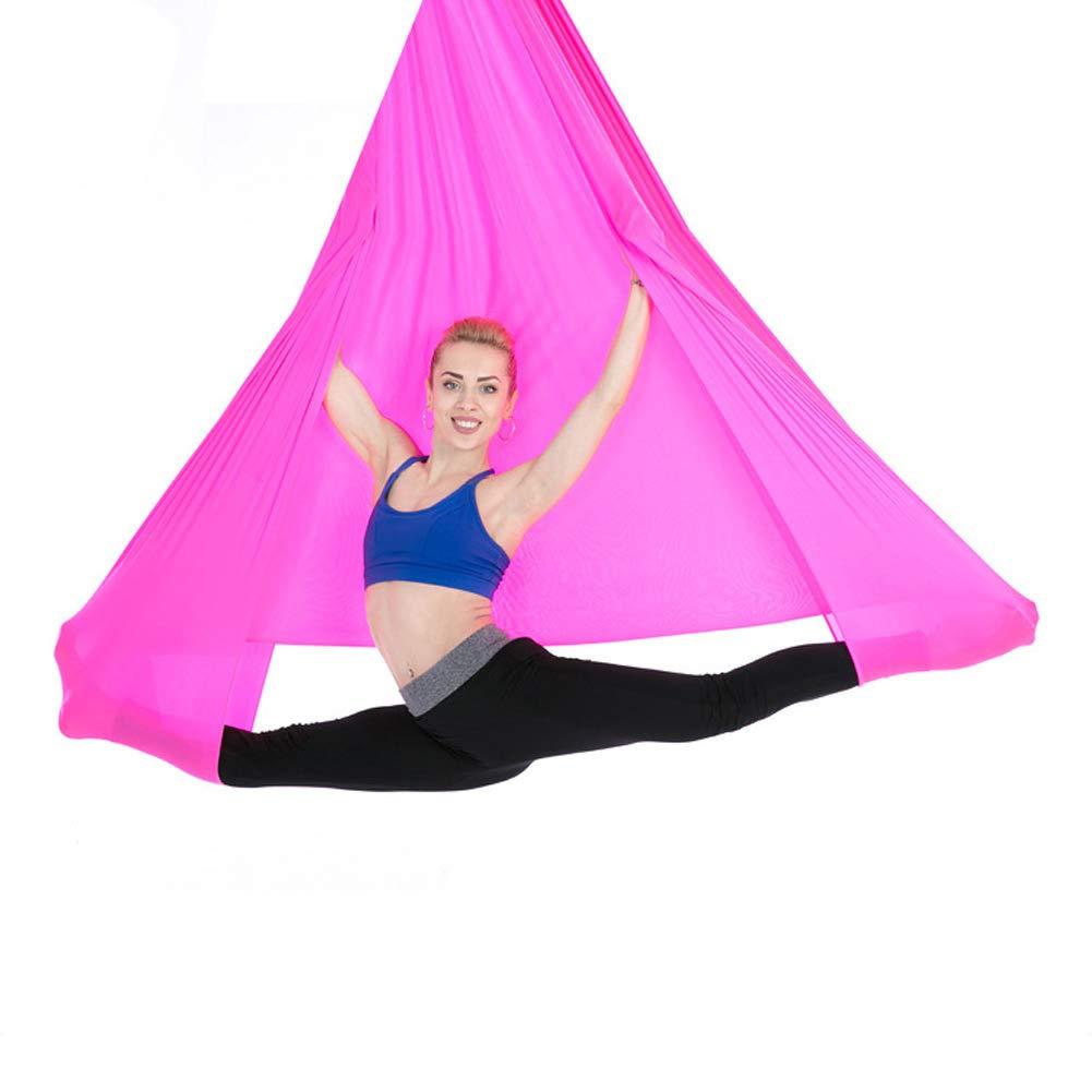 verbesserte Flexibilit/ät /& Core Strength-Extension Straps Carabiners Pose Guide Znds Aerial Yoga Swing Set-Yoga Hammock-Premium Aerial Silk Yoga Swing Antigravity Yoga Inversion /Übungen