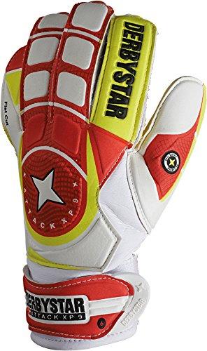 Derbystar Fußball Torwarthandschuhe Attack XP9, Training, weiß rot gelb, 2578