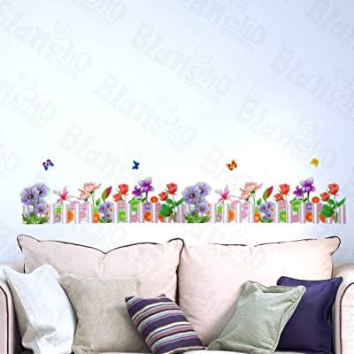 [Purple Fence] Decorative Wall Stickers Appliques Decals Wall Decor Home Decor