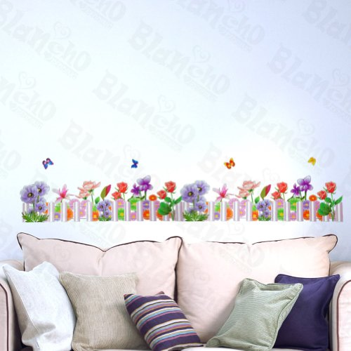 Fence Applique ([Purple Fence] Decorative Wall Stickers Appliques Decals Wall Decor Home Decor)