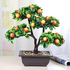 Suyunyuan Flowers plant pot flower plastic artificial tree fruit tree living room bonsai 111