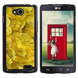 Be Good Phone Accessory // Dura Cáscara cubierta Protectora Caso Carcasa Funda de Protección para LG OPTIMUS L90 / D415 // Floral Spring Summer Nature Yellow