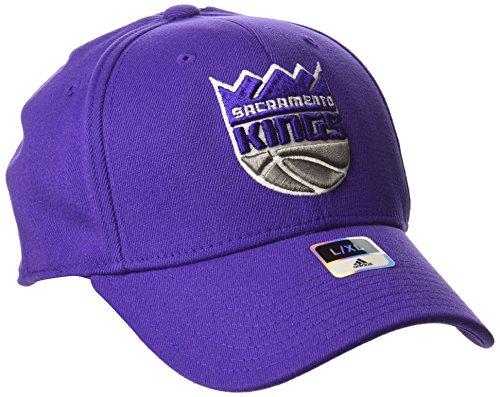 (NBA Sacramento Kings Men's Structured Flex Cap, Small/Medium, Purple)