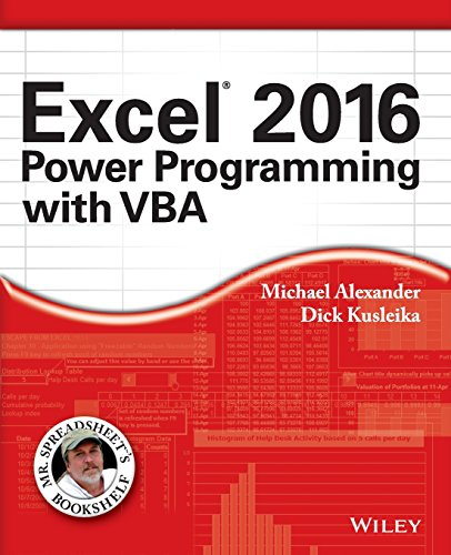Excel 2016 Power Programming with VBA (Mr. Spreadsheet′s Bookshelf)