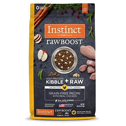 Instinct Raw Boost Grain Free Recipe with Real Chicken Natural Dry Dog Food by Nature's Variety, 10 lb. Bag ()