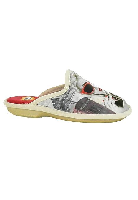 zapattu Zapatillas Biorelax - Zapatillas Casa Gafas - Beige, 40: Amazon.es: Zapatos y complementos