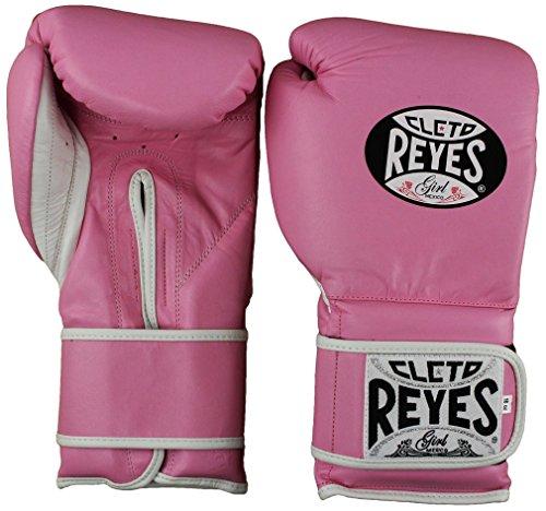 Cleto Reyes Hook & Loop Training Gloves – Regular Padding – Pink 14-Ounce – DiZiSports Store