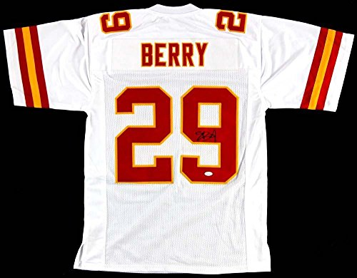 Eric Berry Autographed Jersey - White Custom - Autographed NFL Jerseys