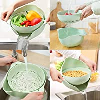 Double Layered Hollow Kitchen Draining Basket