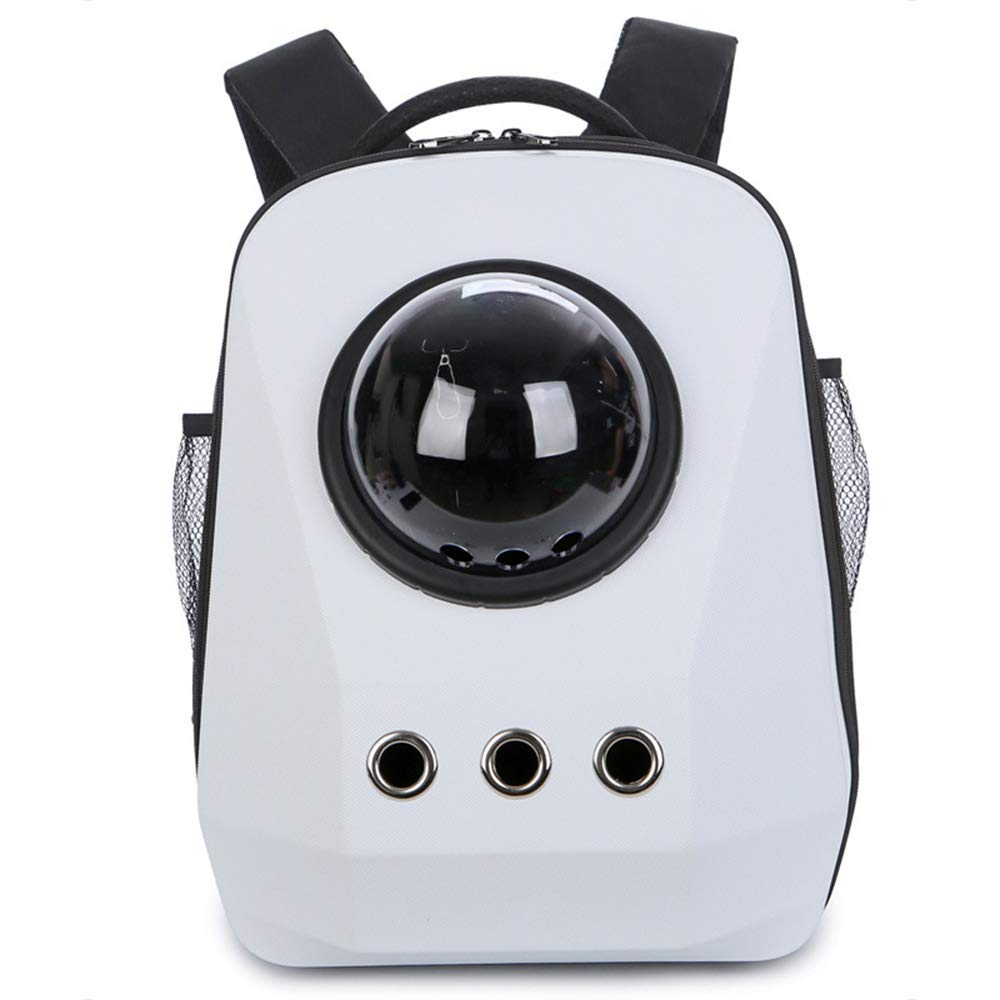 White LEERAIN Pet Backpack, Space Capsule Dog Carrier, Transparent Cat Bag, Satchel Breathable Travel Outdoor For Puppy Cat Rabbit 45  35  28cm,White