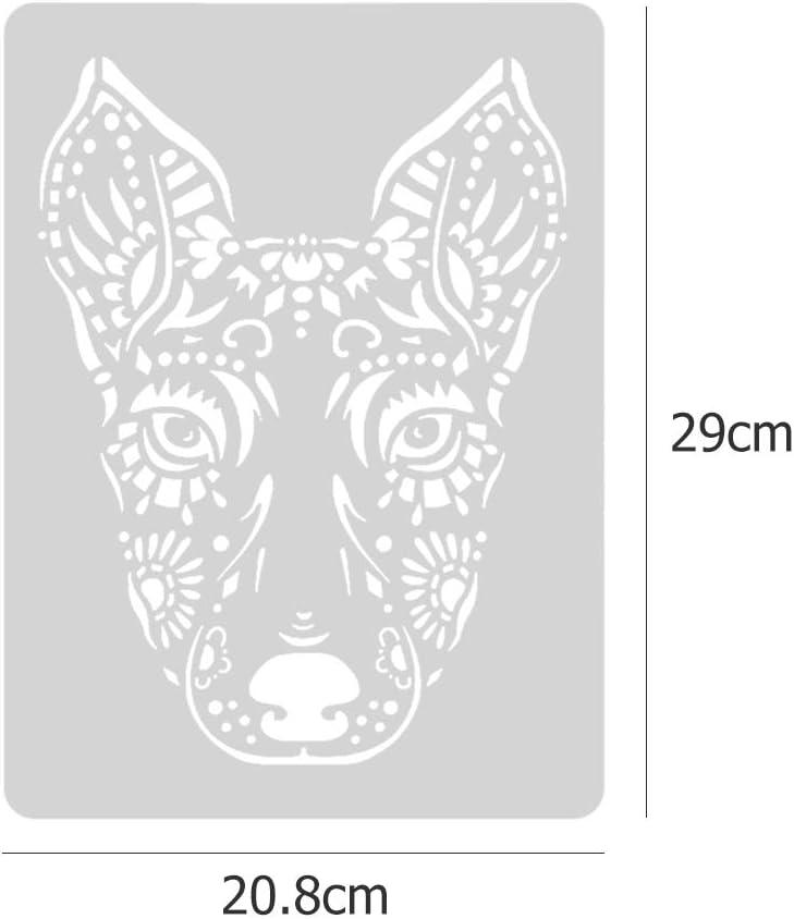 prosperveilUK Plantillas para Pintar de Animal,Dibujo de plantillas,Reutilizable DIY Pintura de Scrapbooking para Sello /álbum de recortes tarjeta o pared