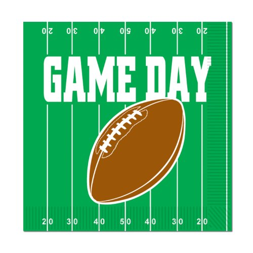 - Game Day Football Luncheon Napkins (2-Ply)    (16/Pkg)