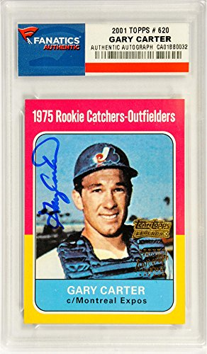 Autographed Baseball Pack (Gary Carter Montreal Expos Autographed 2001 Topps #620 Card - Pack Pulled - Fanatics Authentic Certified)