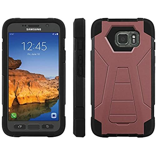 AT&T [Galaxy S7 Active] ShockProof Case [ArmorXtreme] [Black/Black] Hybrid Defender [Kickstand] - [Marsala] for Samsung Galaxy [S7 Active] Sales