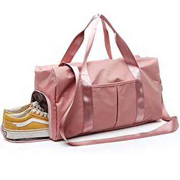 LATIT Bolsa de Gimnasio separada en seco y húmedo, Bolsa de Deporte Impermeable con Compartimento para Zapatos, Bolsa de Hombro, Bolsa de Viaje, Bolsa ...