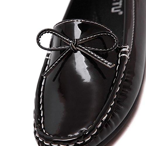Scarpe Da Donna Con Tacco Alto Da Donna Weenfashion Con Decorazione Nera (fiocchi)