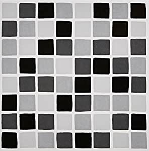 black mosaic tile transfers stickers black peel and