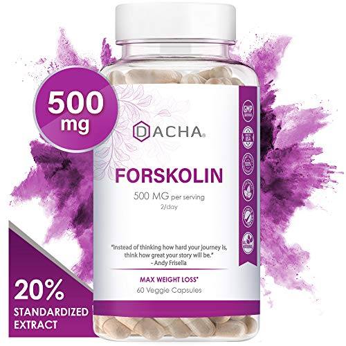 DACHA Forskolin for Weight Loss Max Strength - Pure Belly Fat Burner for Men, Keto Diet Pills That Work Fast for Women, Slim Look, Appetite Suppressant, Lose Weight Fast for Women Rapid Tone Luna Trim (Best Weight Loss Reviews)