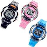 Lancardo 3 PCS Multifunction LED Digital Mens Womens Boys Girls Sport Wrist Watches with Gift Bag