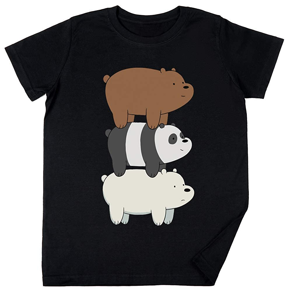 Noi Spoglio Bears Bambini Ragazzi Ragazze Unisex Maglietta Nero Vendax Noi Spoglio Bears
