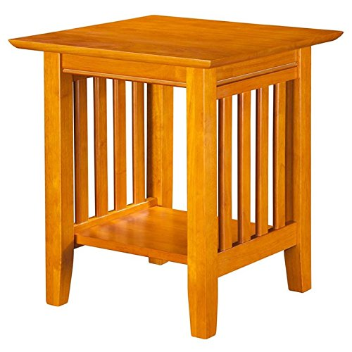 Atlantic Furniture Mission End Table Caramel Latte