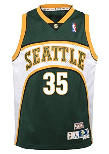 Seattle Supersonics Youth Kevin Durant NBA Soul Swingman Jersey - Green , Youth Medium