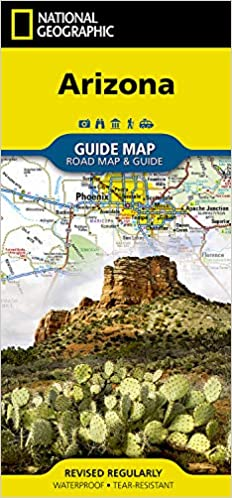 Travel Map Of Arizona.Arizona National Geographic Guide Map National Geographic Maps