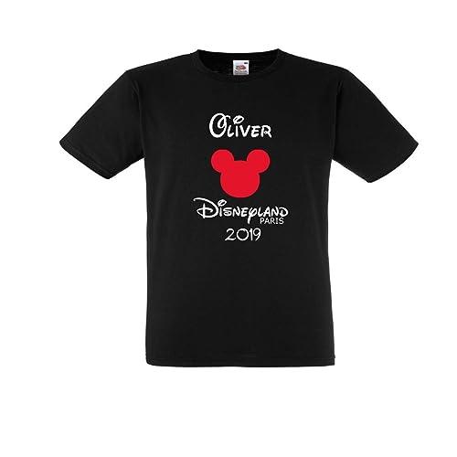 334a4b891 Disneyland Paris 2019 BLACK T shirts Personalised Family T shirts Bundles:  Amazon.co.uk: Handmade