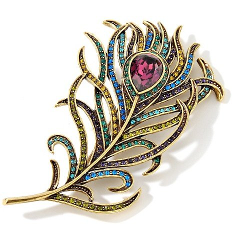 Heidi Daus Pretty as a Peacock Pin Gorgeous Beautiful Gift, Must Have!!! by Heidi Daus (Image #3)