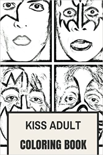 Amazon Kiss Adult Coloring Book Gene Simmons And Paul Stanley Glam Rock Heavy Metal Inspired Books 9781975734725