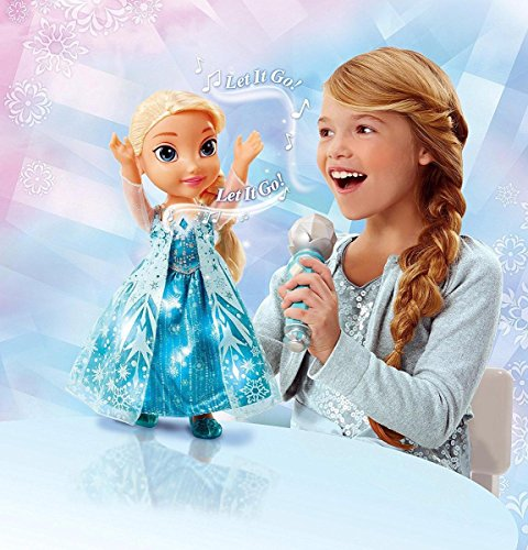 Frozen Elsa Doll Sing A Long Disney Light Up Microphone Kids Toy Girl Gift NEW, Rocket Science Toys, 2018 by ROCKET SCIENCE TOYS (Image #4)