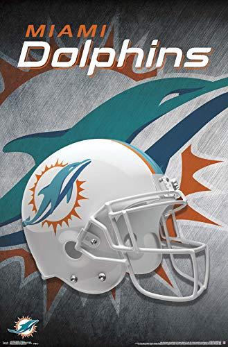 Trends International Miami Dolphins-Helmet Mount Bundle Wall Poster, 22.375