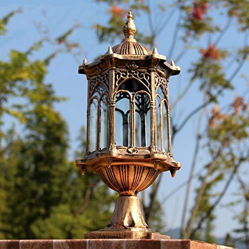PingFanMi Retro Outdoor Garden lamp Wall lamp Outdoor Column lamp, Villa Park Community Lawn lamp Decoration lamp (15.537cm)