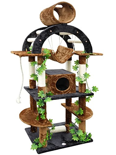 Modern Cat Tree with Leaves Amazon Style Cat Activity Center