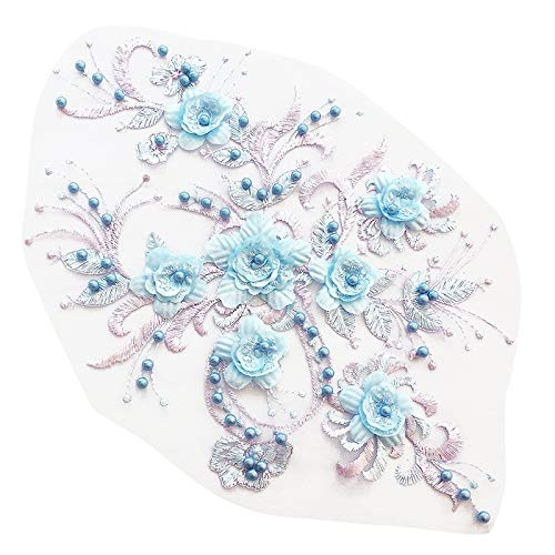 SODIAL Fashion Embroider Beaded Lace Flower Costume Children
