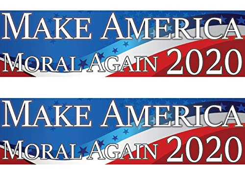 """2 Pack! Make America Moral Again Bumper Stickers 2020 