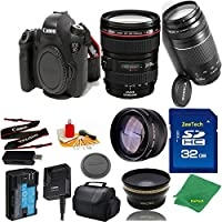 Great Value Bundle for 6D DSLR – 24-105MM L + 75-300MM III + 32GB Memory + Wide Angle + Telephoto Lens + Case