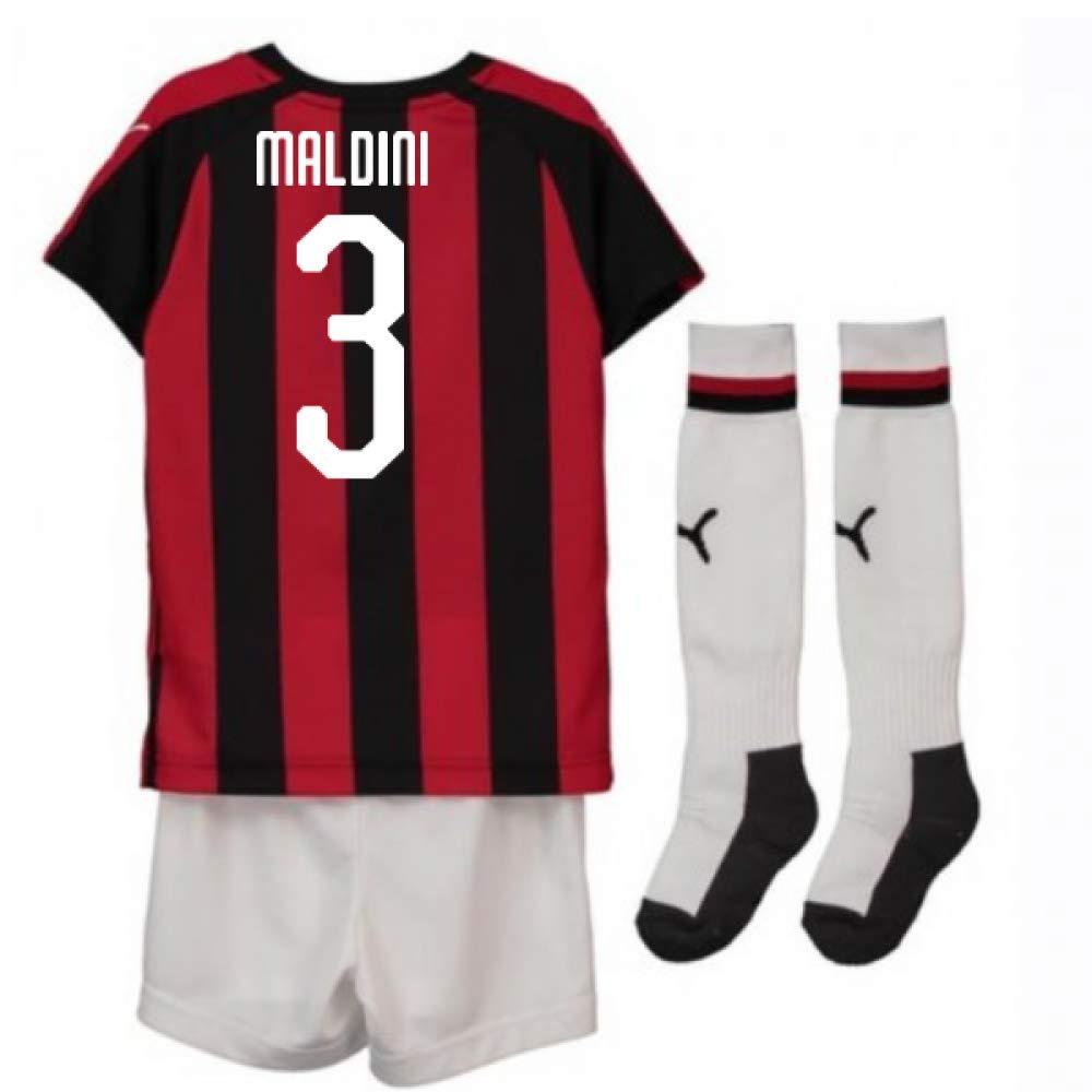 UKSoccershop 2018-2019 AC Milan Puma Home Mini Kit (Paolo Maldini 3)