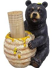 1 X Cute Black Bear / Honey Pot Toothpick Holder - Decorative Lodge Cabin Bear Cub Decor